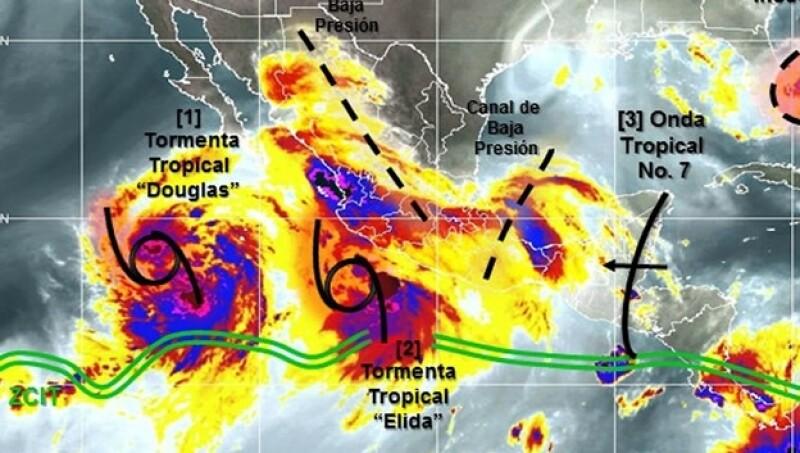 lluvias Douglas Elida tormentas