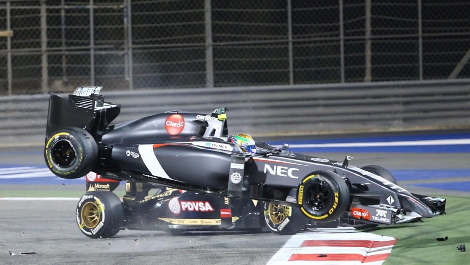El incidente obligó a Gutiérrez a abandonar la carrera en la vuelta 41