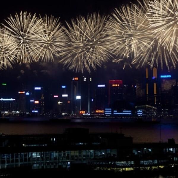 fuegos artificiales en hong kong