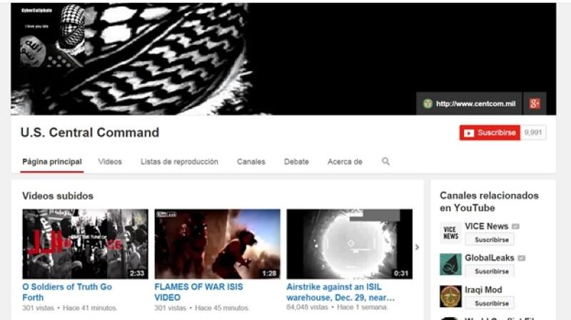 YouTube ISIS hackeo Pentágono