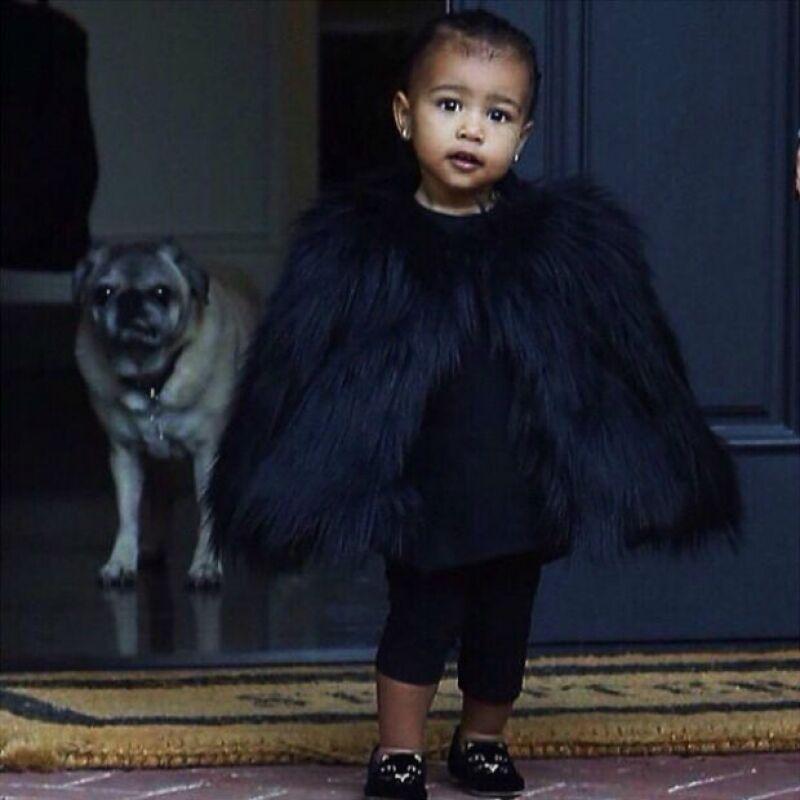 La hija de Kim Kardashian y Kanye West es sin duda la niña del showbiz con más lujos: posee un guardarropa de millones de dólares así como colecciones de exclusivas bolsas y joyas.