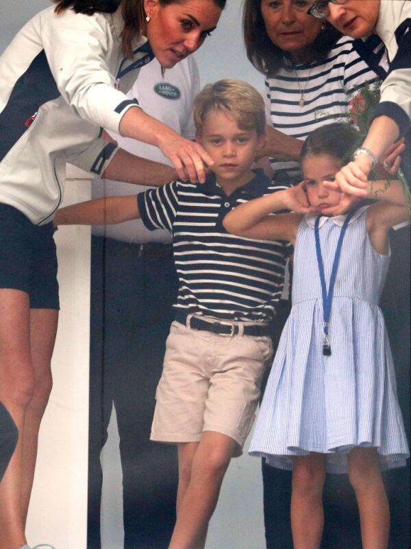 Kate Middleton, príncipe George y la princesa Charlotte