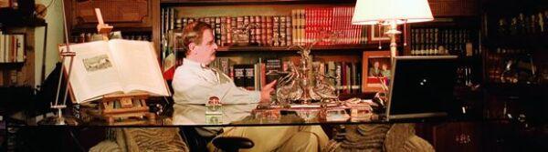 Vicente Fox pasa las tardes en su despacho, donde actualmente trabaja en dos autobiografías: una en inglés y otra en español que se publicarán próximamente.
