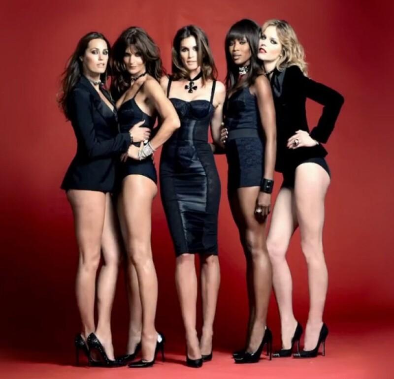 Naomi Campbell, Cindy Crawford, Helena Christensen, Eva Herzigova y Yasmin Le Bon participaron en el nuevo video de Duran Duran que ya tiene más de 2 millones de visitas.