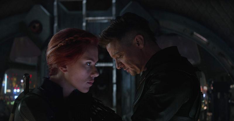 Scarlett Johansson y Hawkeye
