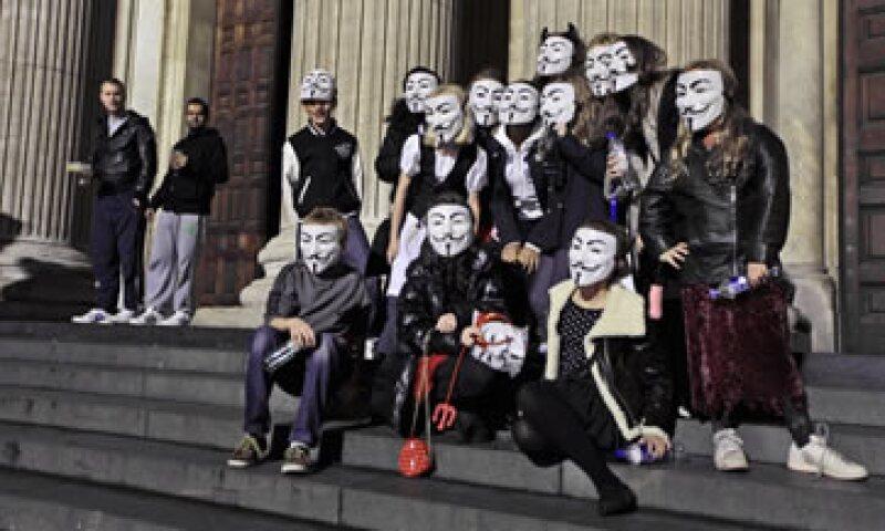 Este año el día de Guy Fawkes tuvo un tono y motivos muy diferentes. (Foto: AP)