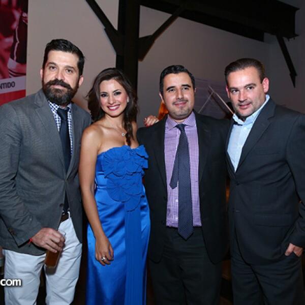 Álvaro Morales, Dante Mollerman, Julio Ruiz de Ojeda y Kary Correa