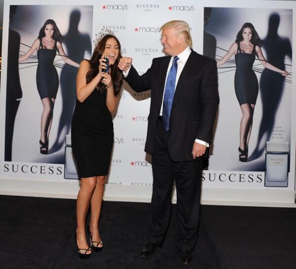 La mexicana fue imagen del perfume de Trump que paradójicamente lleva por nombre Success (éxito).