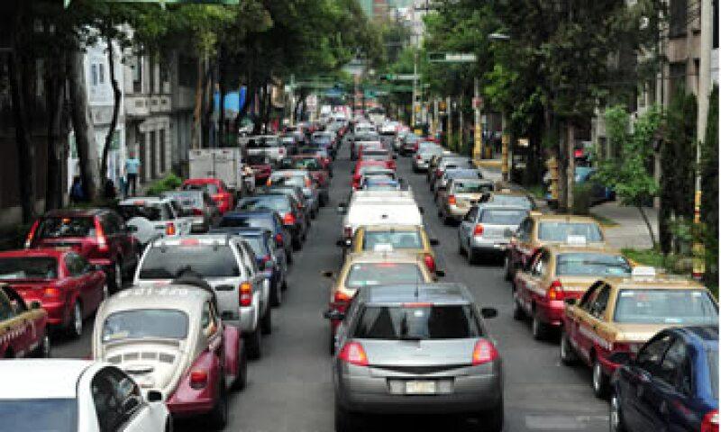 La velocidad promedio en el Distrito Federal es de apenas de 20 km/h. (Foto: Shutterstock )