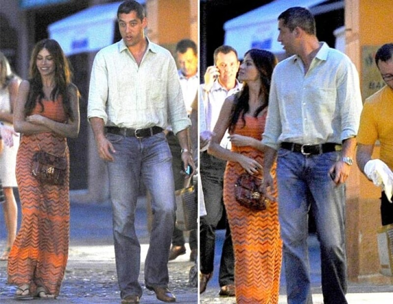 La actriz viajó acompañada de su novio Nick Loeb a Portofino, donde mostraron en todo momento su amor.