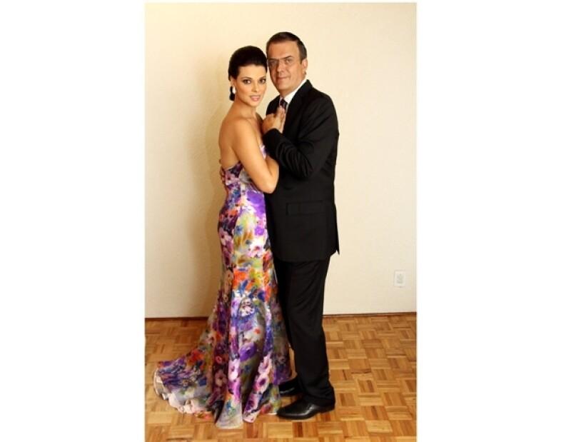 Así posaron el día de su boda el 7 de octubre de 2012.