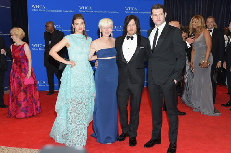 El protagonista de The Walking Dead estuvo rodeado de bellas mujeres como Lauren Cohan y Joanna Coles.