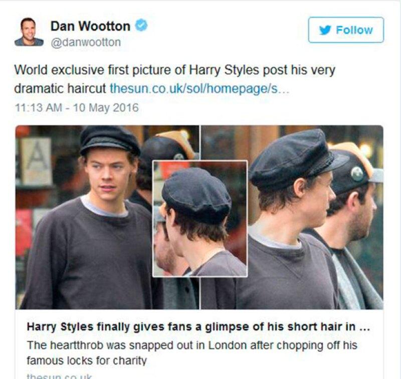 El diario The Sun captó las primeras imágenes del cantante con su nuevo look.