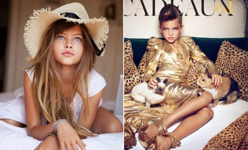 Thylane Blondeau posó a los 10 años para edición francesa de Vogue.