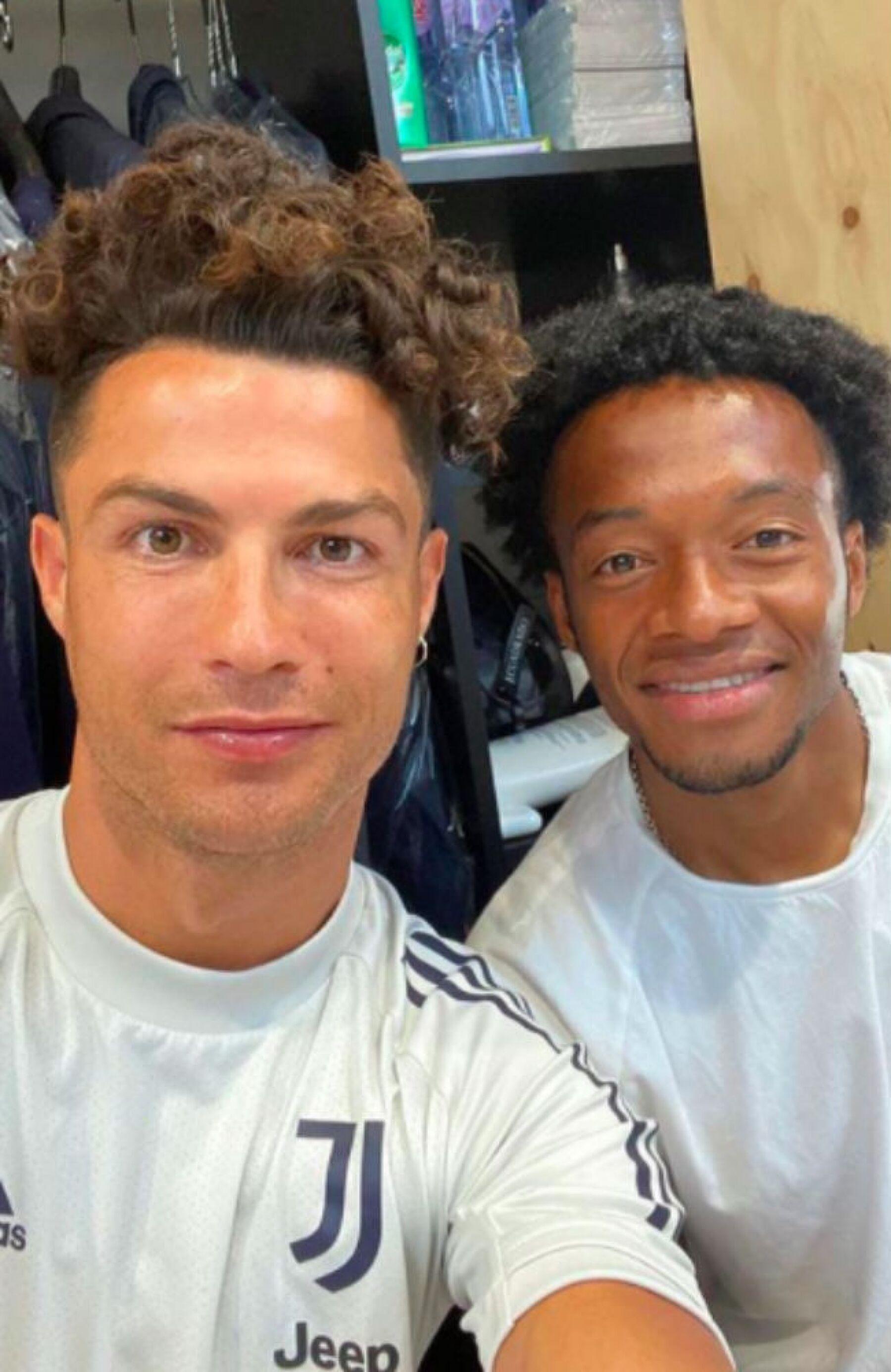 Cristiano Ronaldo y Juan Cuadrado.