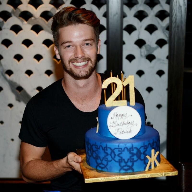Patrick celebró recientemente su cumpleaños número 21 en Las Vegas.