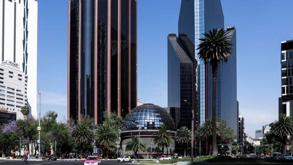 The building of Mexico's Stock Exchange is pictured in Mexico City