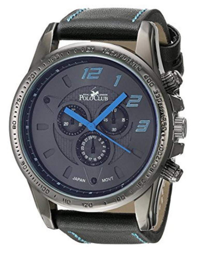 Royal London Polo Club RLPC 2218 A Reloj Análogo, color Negro