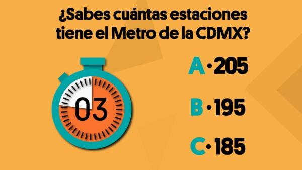 ¿Sabes cuántas estaciones tiene el Metro de la CDMX?| #Crono ⌛️