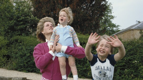 Diana, Harry, William