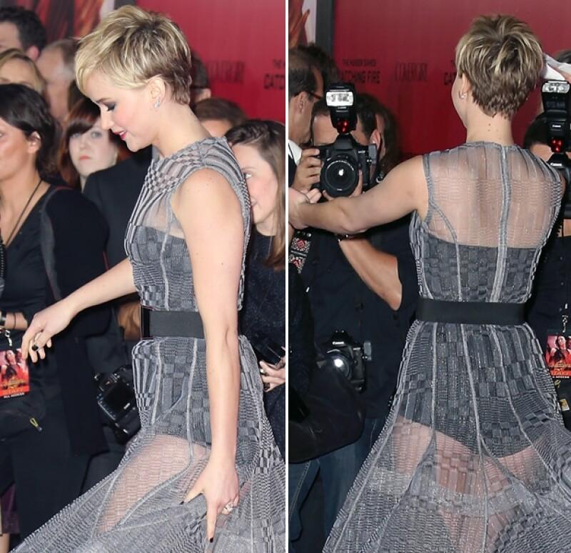 Críticos de la moda quedaron impactados con el atrevido diseño que Jennifer Lawrence llevó a la premiero de `The Hunger Games´  en Los Ángeles. Te contamos por qué.