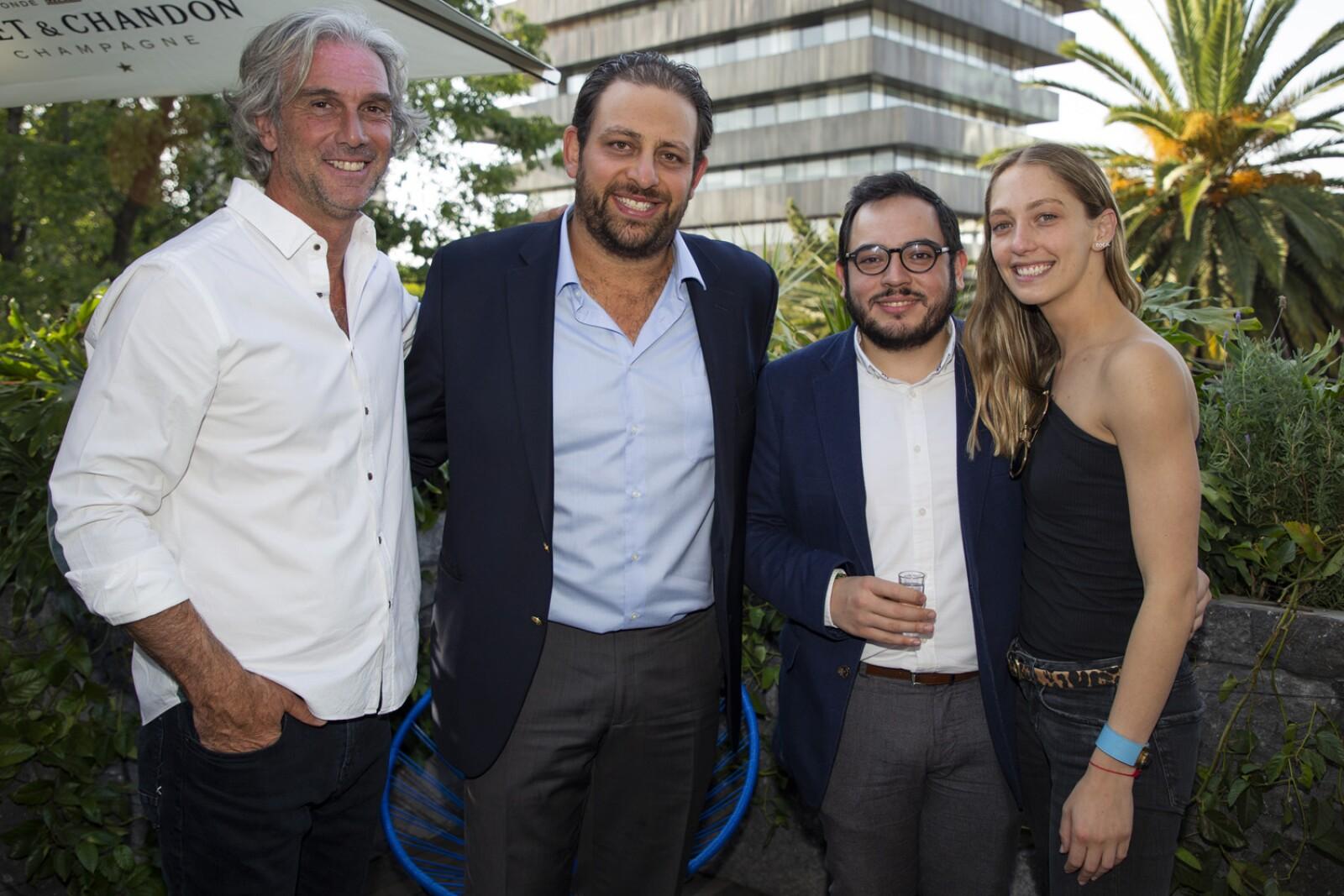 Marcelo Imposti, Adolfo Salame, Marco Larios, Daniela Skidelsky