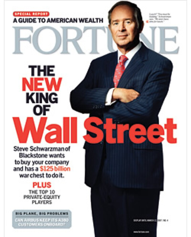 Stephen Schwarzman demostró cómo el capital privado había dominado las fusiones y adquisiciones en 2007. (Foto: Fortune)