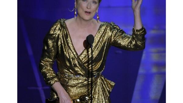 Meryl Streep recibió su tercer Oscar en su carrera.