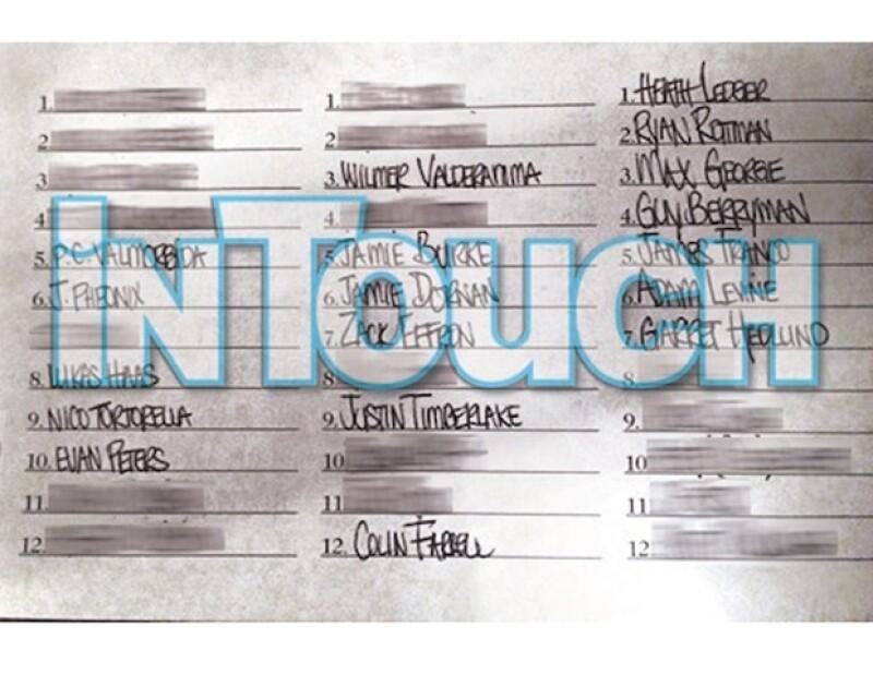 Esta lista fue supuestamente escrita por Lindsay.