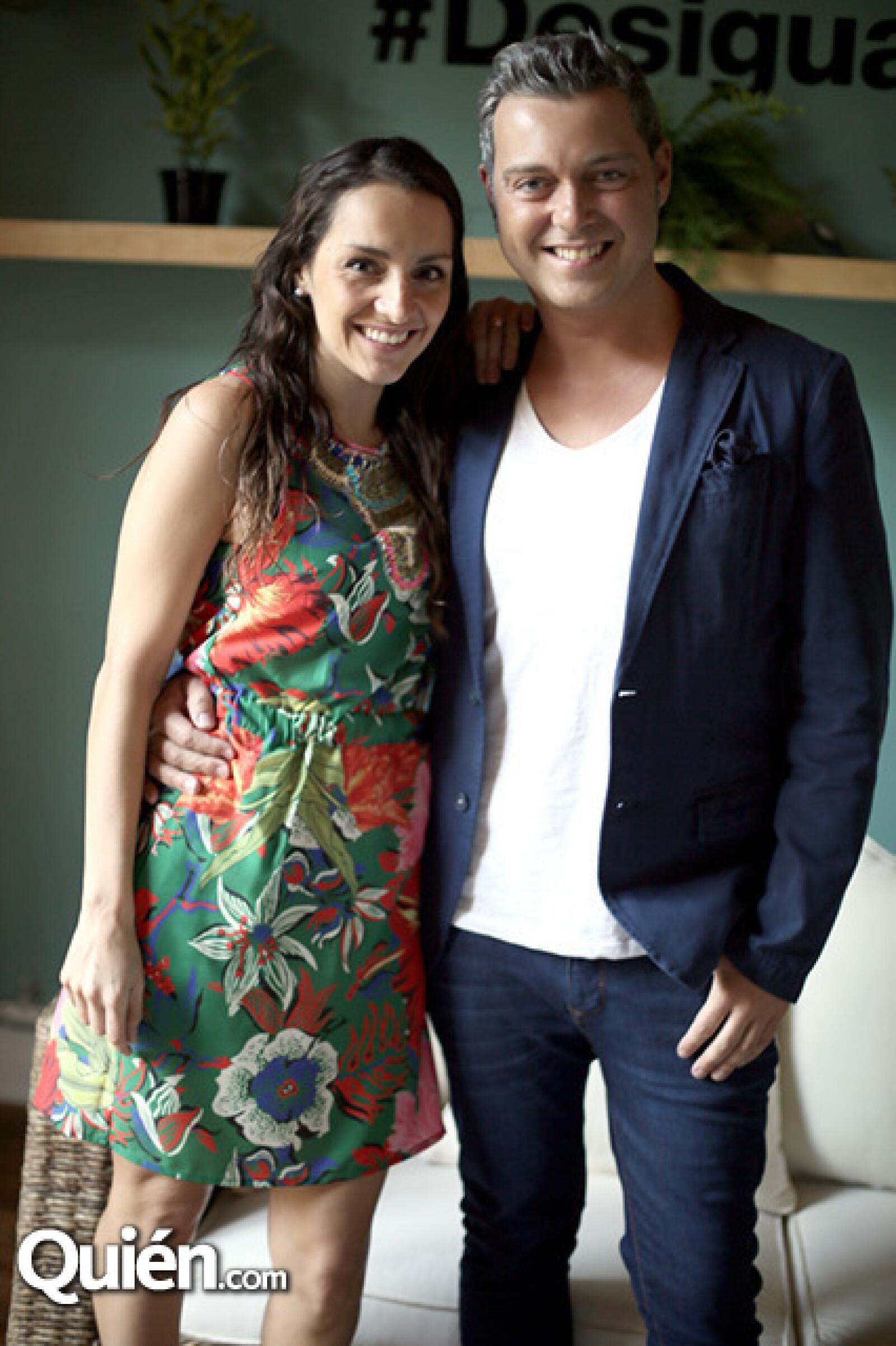 Nataly Gutiérrez y José María Gandarillas