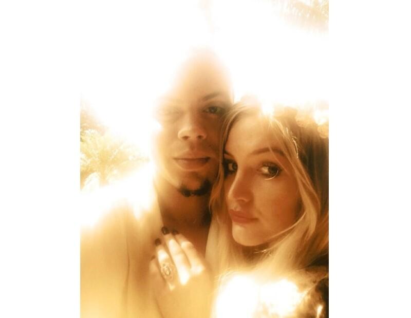 Ashlee y Evan se comprometieron después de siete meses de relación.