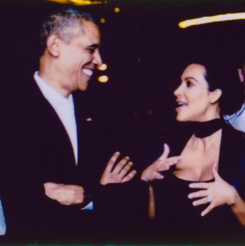 Kim Kardashian, Barack Obama