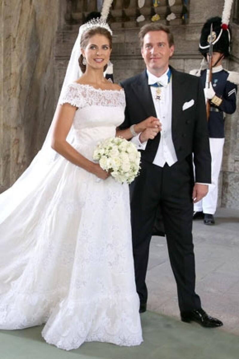 La pareja se casó el 8 de junio.
