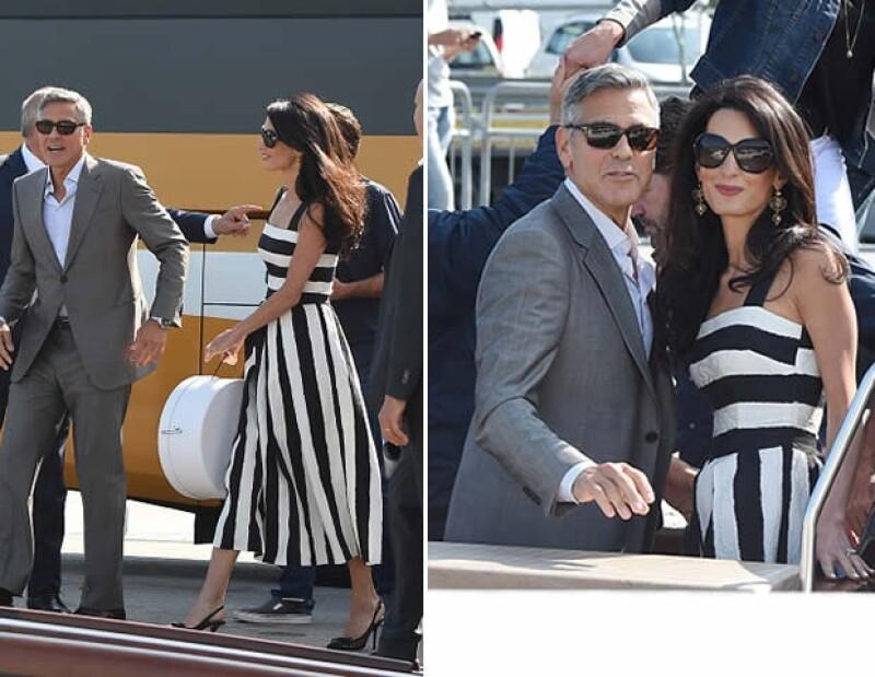 La abogada de 36 años mantiene un look chic y elegante. Aquí lució un vestido Dolce & Gabbana y lentes Prada.