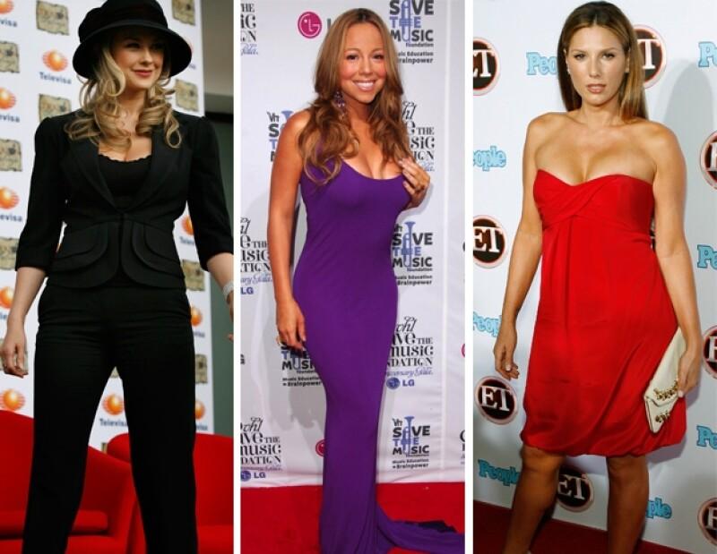Araceli Arámbula, Mariah Carey y Daisy Fuentes.