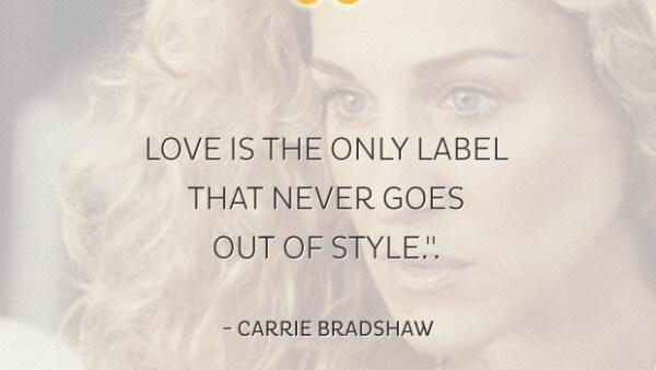 Festejamos los 50 años de Sarah Jessica Parker, recordando las mejores frases de Carrie Bradshaw, su icónico personaje de Sex and the City.