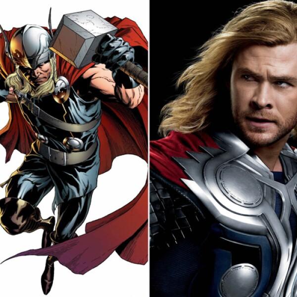 El guapo y musculoso Chris Hemsworth dio vida al mitológico Thor.