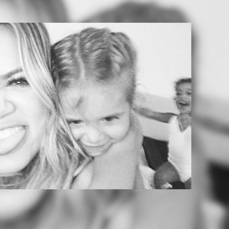 Al parecer las tres pasan grandes momentos estando juntas, pues Khloe compartió fotos y un divertido video al lado de sus sobrinas.