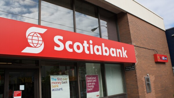Scotiabank Logo on an Exterior Sign