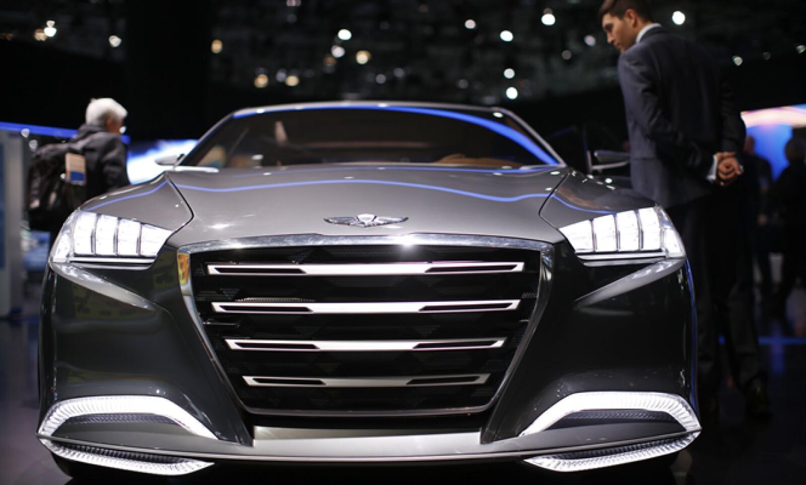 El Hyundai HCD-14 en el evento, que tiene un costo desde 5 dólares para los niños hasta 15 los adultos.