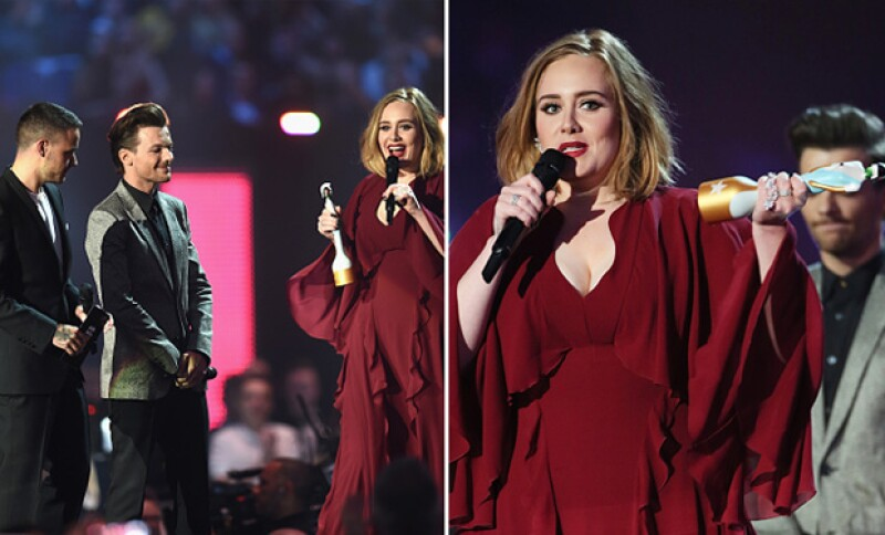 Al recibir su premio además externó su apoyo a la cantante Kesha.