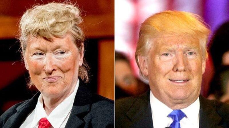 La actriz parodió a Trump durante una puesta en escena en Nueva York.