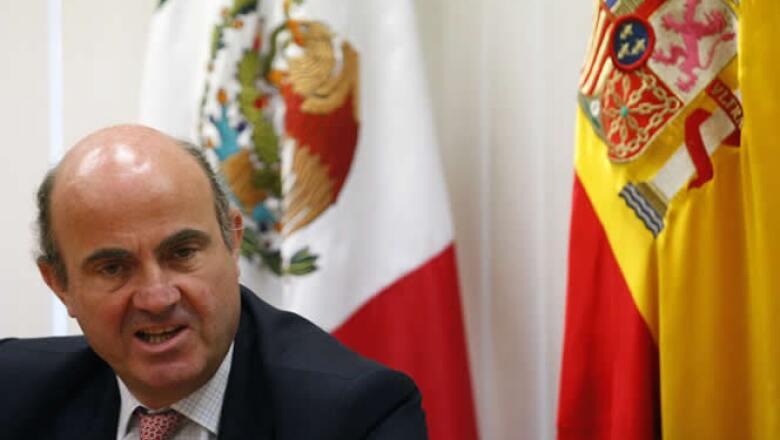 El ministro de Economía español, Luis de Guindos, uno de los rostros más visibles del Gobierno del atribulado país.
