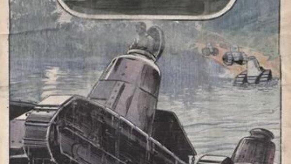 Tanques anfibios para la industria militar. Cr�dito: Archivo de la Bibliot�que Nationale de France