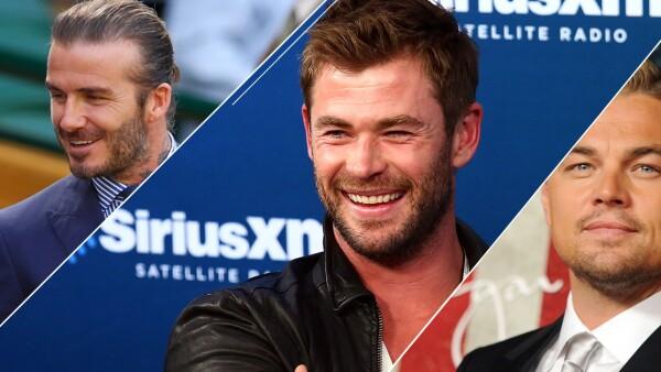 David Beckham, Chris Hemsworth y Leonardo DiCaprio