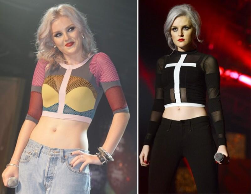 A Perrie le gusta mostrar su abdomen con sus outfits.