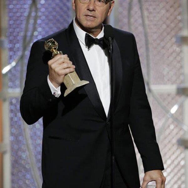 El Mejor Actor de Serie de Drama fue para Kevin Spacey de House of Cards.