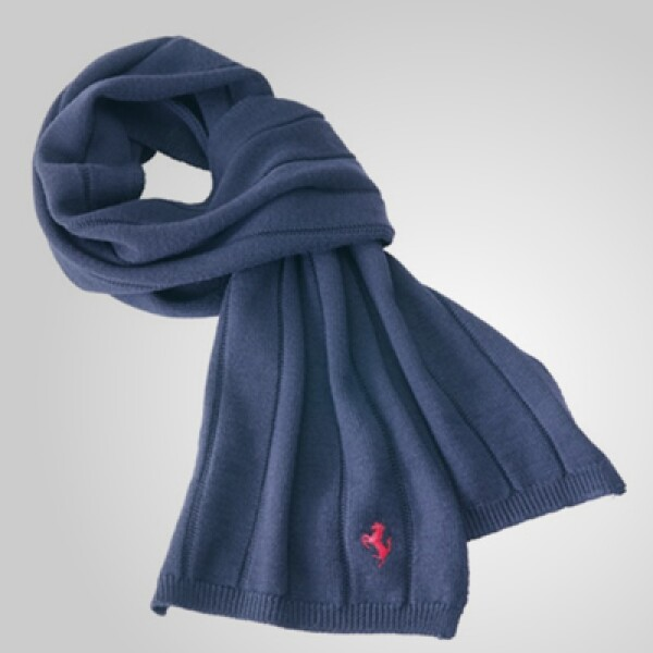 La fidelidad de una marca se lleva hasta el cuello; para muestra, esta bufanda en tono azul claro y material de lana. Precio: 120 dólares.