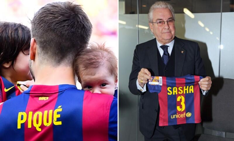 Incluso a su nacimiento su propio abuelo lo hizo miembro del equipo del Barcelona.