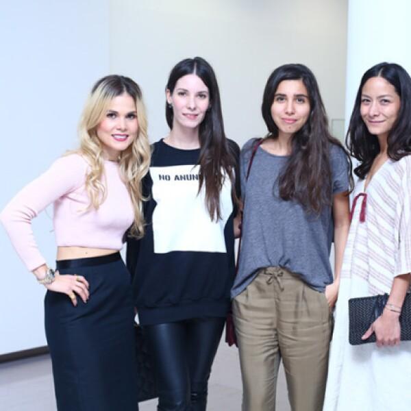 Mariana Estrada, Inés Abourchard, Alexia Ramírez y Pamela Ocampo